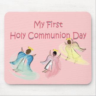 Mi primer día de la comunión santa tapete de ratón