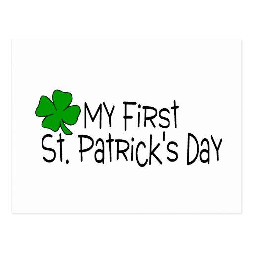 Mi primer día del St Patricks Tarjetas Postales