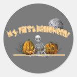 Mi primer esqueleto de Halloween Pegatina Redonda