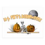 Mi primer esqueleto de Halloween Postal