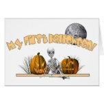 Mi primer esqueleto de Halloween Tarjetón