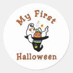 Mi primer Halloween Etiqueta Redonda