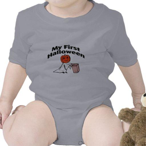 Mi primer Halloween (truco o invitación) Trajes De Bebé