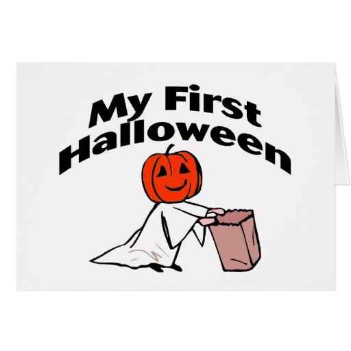 Mi primer Halloween (truco o invitación) Felicitacion