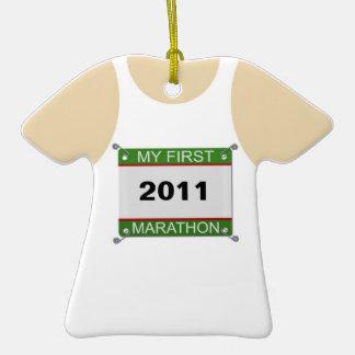 Mi primer maratón - personalizable adorno