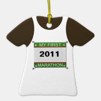 Mi primer maratón - personalizable ornatos