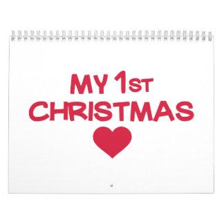 Mi primer navidad calendarios
