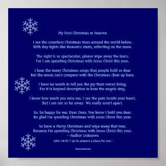 Mi primer navidad en cielo póster