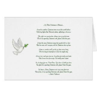 Mi primer navidad en paloma del cielo tarjeta de felicitación