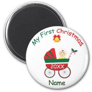 Mi primer navidad imán redondo 5 cm