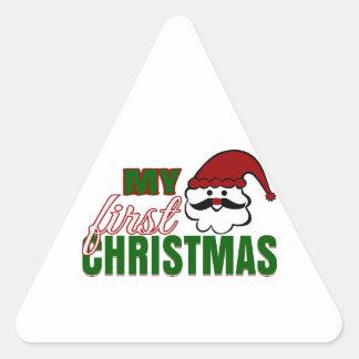 Mi primer navidad pegatina triangular