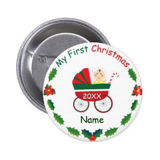 Mi primer navidad pin redondo 5 cm