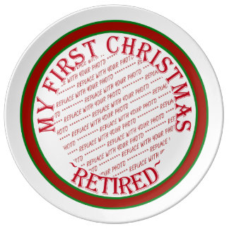 Mi primer navidad retiró el marco de la foto platos de cerámica