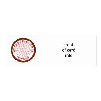 Mi primer navidad retiró el marco de la foto tarjetas personales