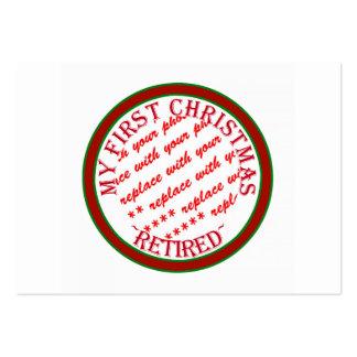 Mi primer navidad retiró el marco de la foto plantillas de tarjeta de negocio