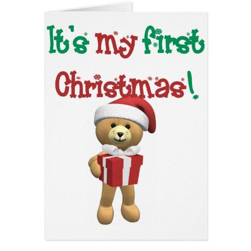 Mi primer navidad tarjeta de felicitación