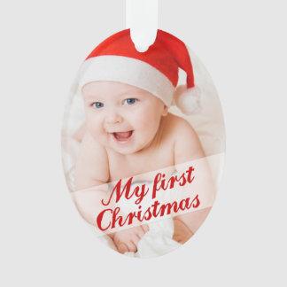 Mi primer ornamento del recuerdo del navidad