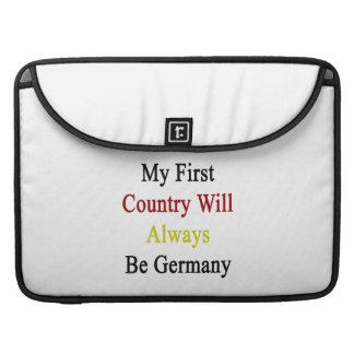 Mi primer país será siempre Alemania Funda Para Macbook Pro