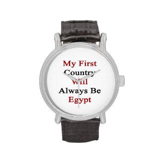 Mi primer país será siempre Egipto Reloj De Mano