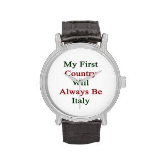 Mi primer país será siempre Italia Reloj