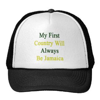 Mi primer país será siempre Jamaica Gorras