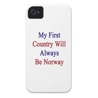 Mi primer país será siempre Noruega Case-Mate iPhone 4 Funda