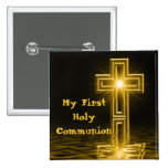 Mi primer Pin del botón de la comunión santa