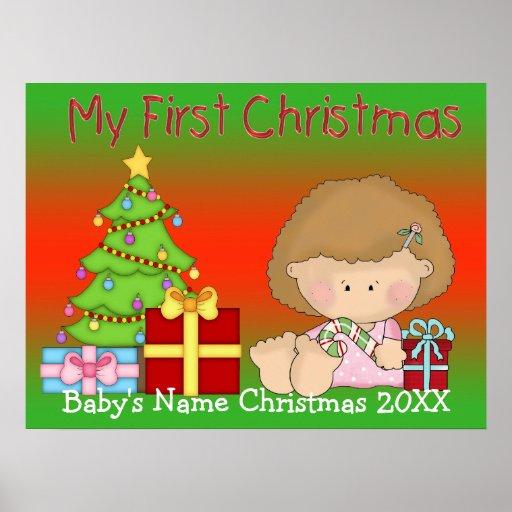 Mi primer poster/impresión del chica del navidad