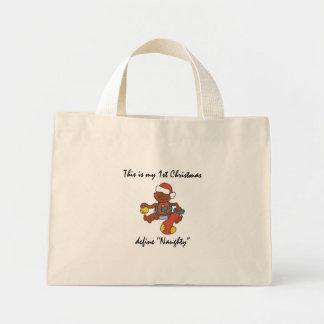 Mi primer regalo del navidad bolsa tela pequeña