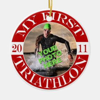 Mi primer Triathlon - 2011 Ornaments Para Arbol De Navidad