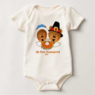 Mi primera acción de gracias body para bebé