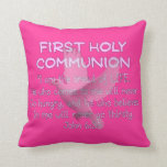 """Mi primera almohada """"pan de la comunión de la VIDA"""