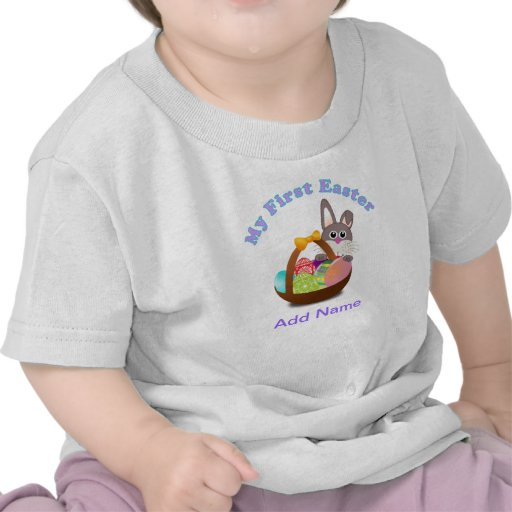 Mi primera camisa de Pascua para el regalo de Pasc