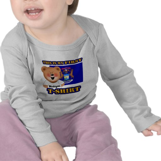 Mi primera camisa del oso de peluche de Michigan