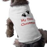 Mi primera camisa del perro del navidad ropa de perros