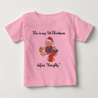 Mi primera camiseta del navidad playera