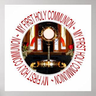 Mi primera comunión santa póster
