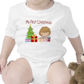 Mi primera enredadera del niño del chica del navid camisetas