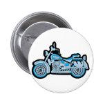 Mi primera motocicleta azul pin