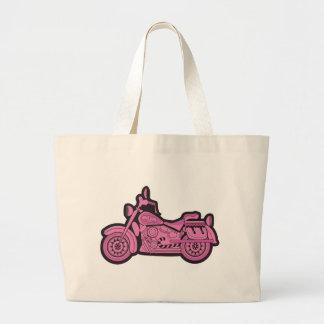 Mi primera motocicleta rosada bolsas de mano