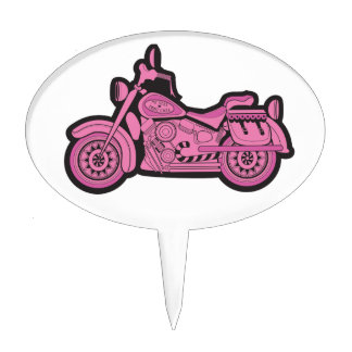 Mi primera motocicleta rosada decoraciones de tartas