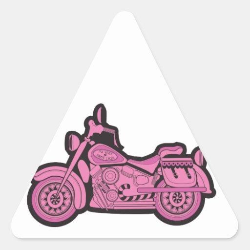 Mi primera motocicleta rosada colcomanias de triangulo personalizadas