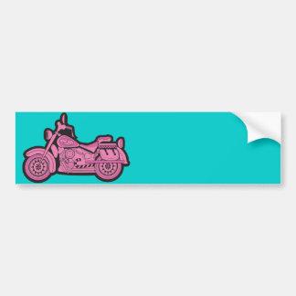 Mi primera motocicleta rosada pegatina para auto