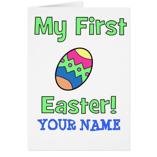 ¡Mi primera Pascua! Tarjetón