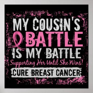 Mi primo del cáncer de pecho demasiado 2 de la bat póster