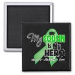 Mi primo es mi héroe - cáncer del riñón iman de nevera