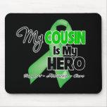 Mi primo es mi héroe - cáncer del riñón alfombrillas de raton