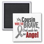 Mi primo es un cáncer de cerebro del ángel 1 imán para frigorifico