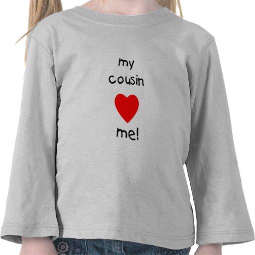 Mi primo me ama camisetas