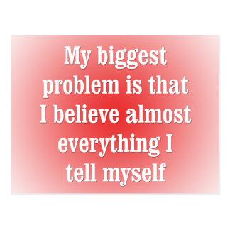 Mi problema más grande es ése postal